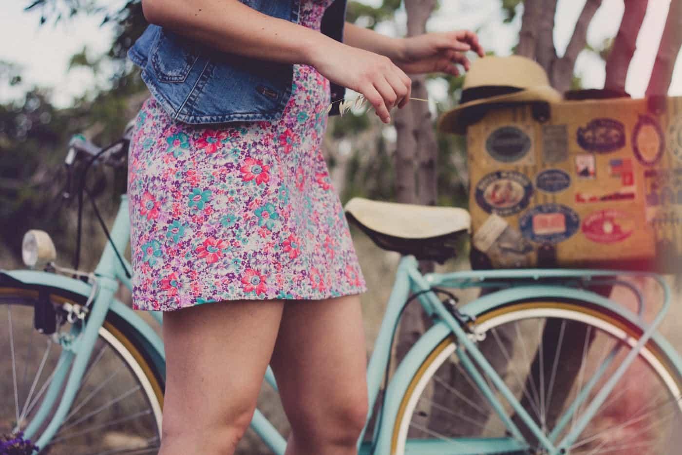 activity6-ladies skirt with bike