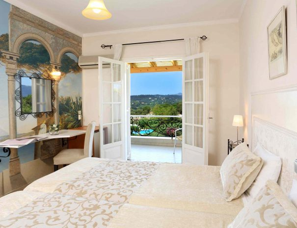 Doppelbett in panorama-zimmer